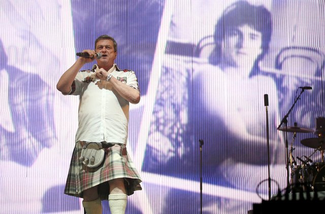 Les McKeown performing on stage in the King Tut's Wah Wah Tent during the second day of T in the Park, the annual music festival held at Strathallan Castle, Perthshire.
