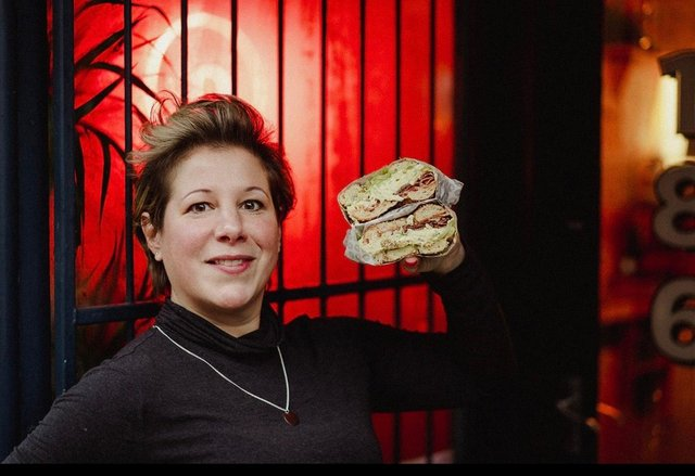 Edinburgh business woman Larah Bross, founder and owner of Bross Bagels.