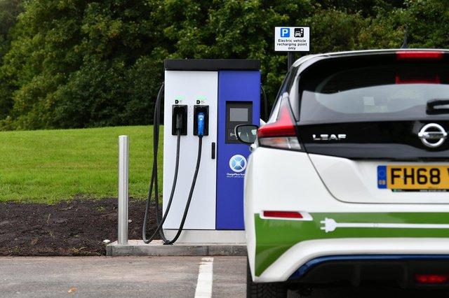 Edinburgh needs to get more charging points for electric cars (Picture: John Devlin)