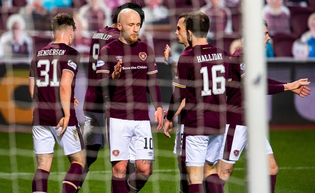 Hearts are back in the top flight after being crowned champions.