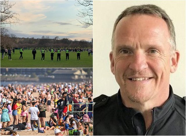 Edinburgh's police chief is urging the public to stick to the government's Covid regulations on gatherings at beauty spots as Scotland's 'stay at home' order changes to 'stay local' in time for Easter weekend. Pictures: Police Scotland/JPI Media/ Anna Koslerova.