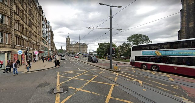 Between South St David Street and East End junction, buses, taxis and bicycles are only able to access the road from 7.30am to 6.30pm each day from July 18 until further notice as part of Edinburgh City Council's Spaces for People scheme. Waverley Bridge is closed - except to cyclists - until further notice.
