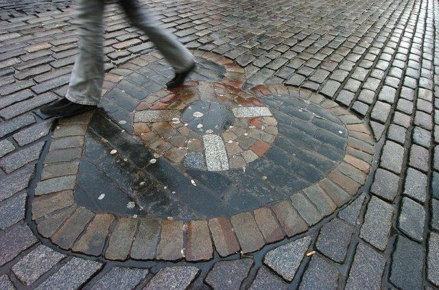 It is said you should spit on the The Heart of Midlothian on the Royal Mile for luck - but one near miss with some flying sputum left columnist Susan Morrison feeling far from blessed. PIC: Cate Gillon.