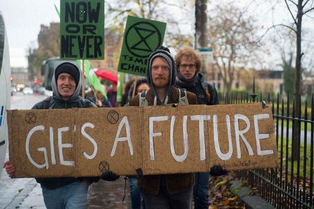 Extinction Rebellion climate activists (Photo: Extinction Rebellion Scotland).