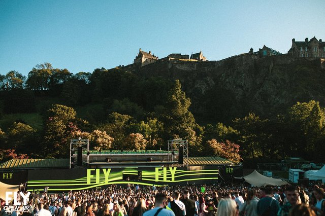 The Fly Open Air festival is due to go ahead in Princes Street Gardens in Edinburgh in September.