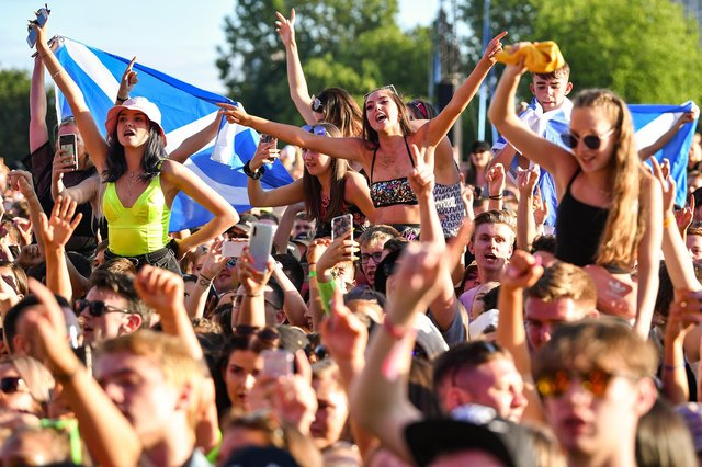 Music fans enjoying the last TRNSMT festival in 2019.