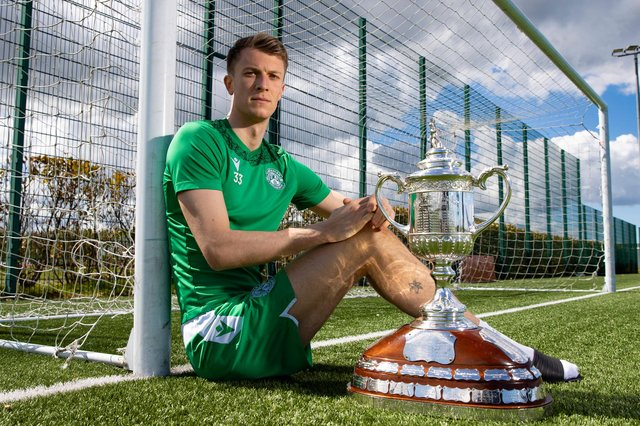 Hibs' Matt Macey looking forward to having an active role in this weekend's Scottish Cup showdown with St Johnstone. Photo by Alan Harvey / SNS Group