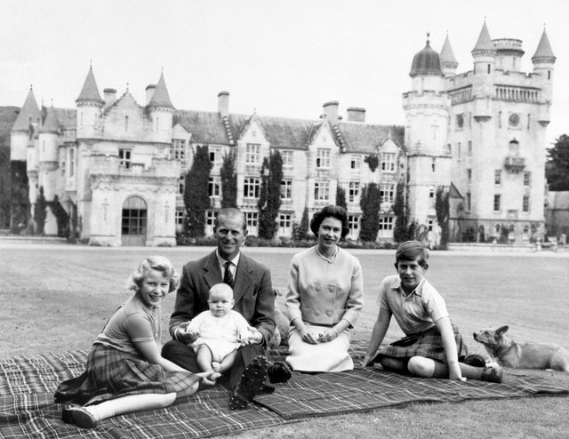 The Queen and the Duke of Edinburgh with Princess Anne, Prince Charles and baby Prince Andrew, September 1960. Picture: Press Association