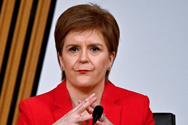 Nicola Sturgeon gives evidence to the Holyrood Committee investigating the Scottish government's mishandling of harassment complaints about Alex Salmond (Picture: Jeff J Mitchell/PA Wire)