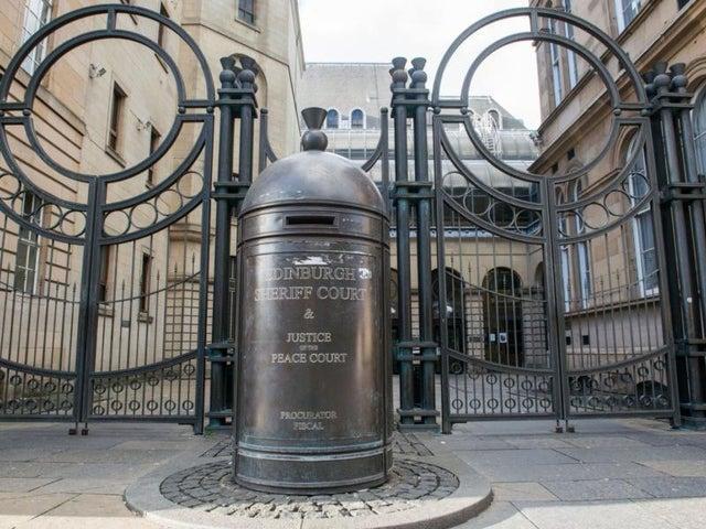 Stolen brolly case was heard at Edinburgh Sheriff Court