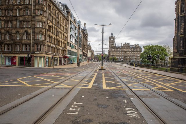 An empty Princes Street during lockdown