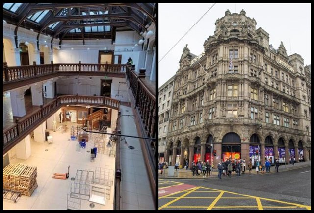 The famous Jenners store in Edinburgh's Princes Street has been emptied of stock and fittings.