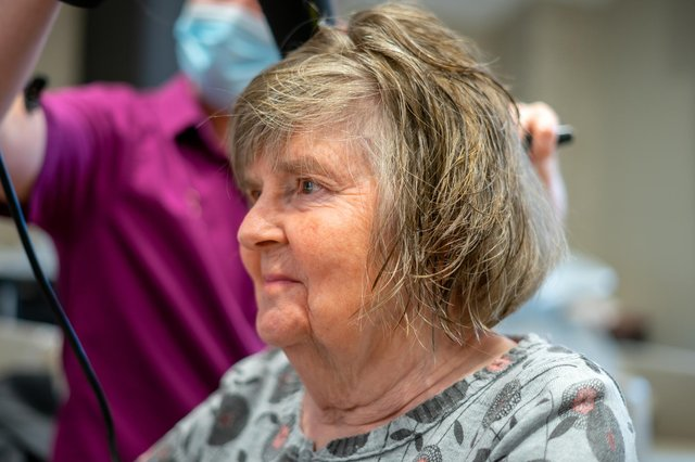 Residents at Cramond care home have been able to get their hair styled ahead of first outing since lockdown.