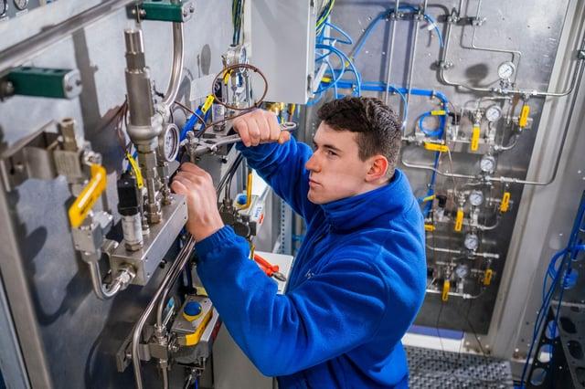 A Logan Energy apprentice engineer. Picture: Chris Watt Photography