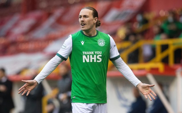 Jackson Irvine in action for Hibs