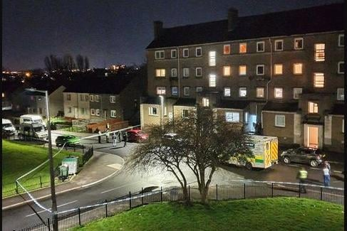 Wester Drylaw Drive was cordoned off on Friday evening