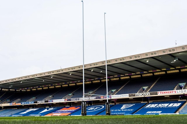 BT Murrayfield is due to stage the Rainbow Cup match between Edinburgh and Ulster on Saturday. Picture: Ross Parker/SNS