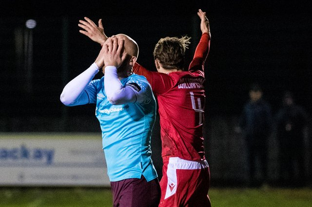 It was a galling night for Liam Boyce and his Hearts team-mates up at Brora.