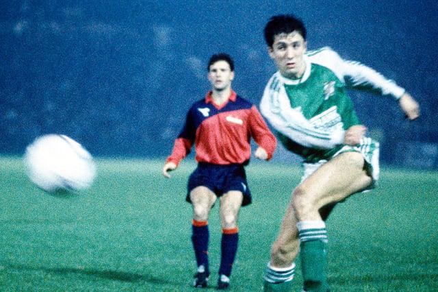 John Collins in action against RFC Liege