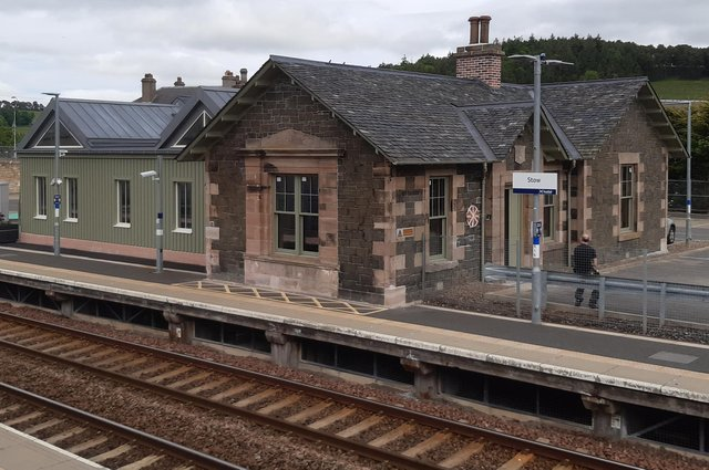 Stow station was originally not due to be re-opened as part of the Borders Railway project. Picture: The Scotsman