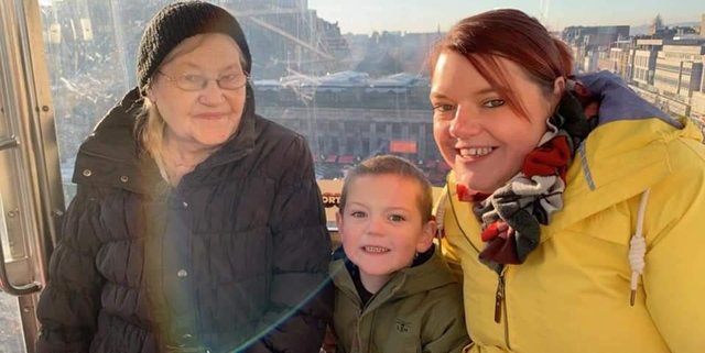 Bernice with her daughter Kirsty and grandson George. Picture: contributed