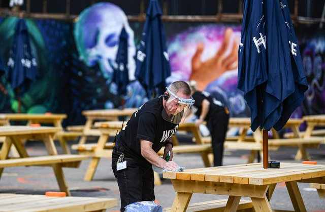 Venues including beer gardens are set to see customers return this Monday (file image). Picture: Jeff J Mitchell/Getty Images.
