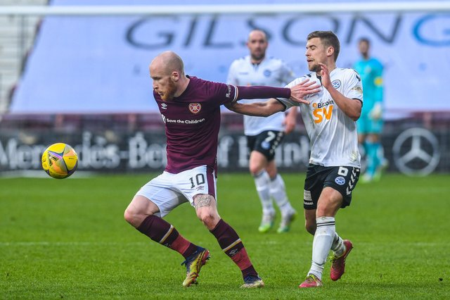 Hearts defeated Ayr United 2-0. Picture: SNS