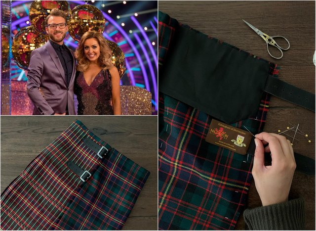 Emma Wilkinson, of Gordon Nicolson Kiltmakers, made the kilt for JJ Chalmers on tonight's Strictly Come Dancing show.