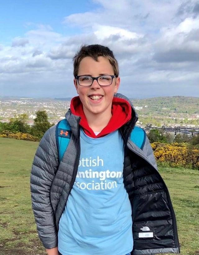 Struan Waddell  took on the seven hills of Edinburgh.