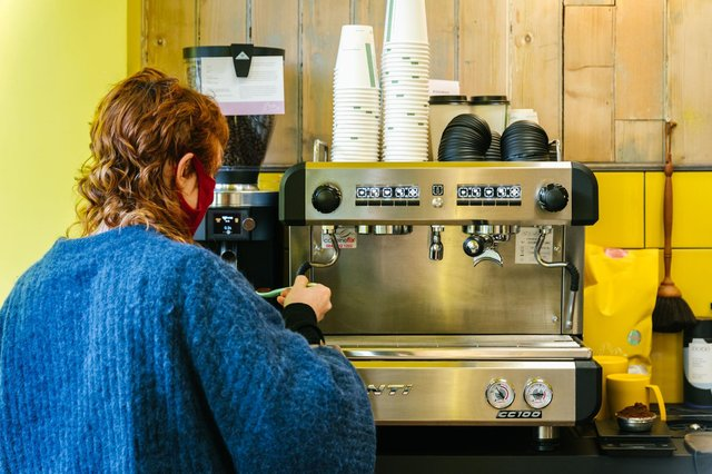 Stag Espresso, which operates out of a hatch window at Stag Barber Co's branch at 10 Haymarket Terrace is hoping the caffeine will fuel people to take part in their democratic rights.