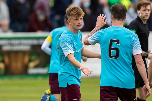 Teenager Finlay Pollock was one of Hearts' best players against Linlithgow Rose.