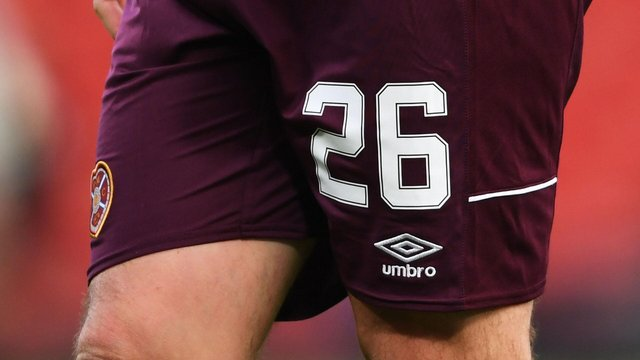 Hearts players wore No.26 on their shorts during the 2019/20 Scottish Cup final in tribute to Marius Zaliukas. Picture: SNS