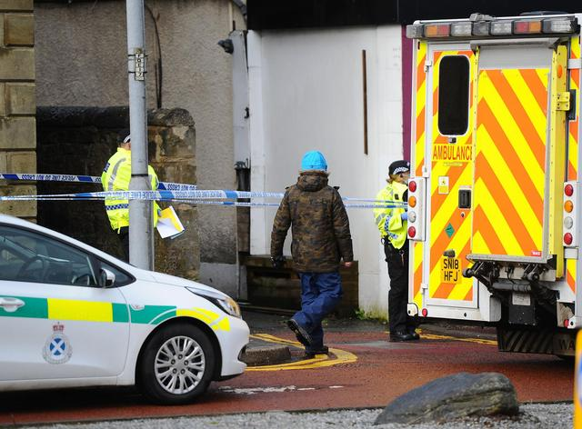 Falkirk police incident 'ongoing' as emergency services at taped-off property