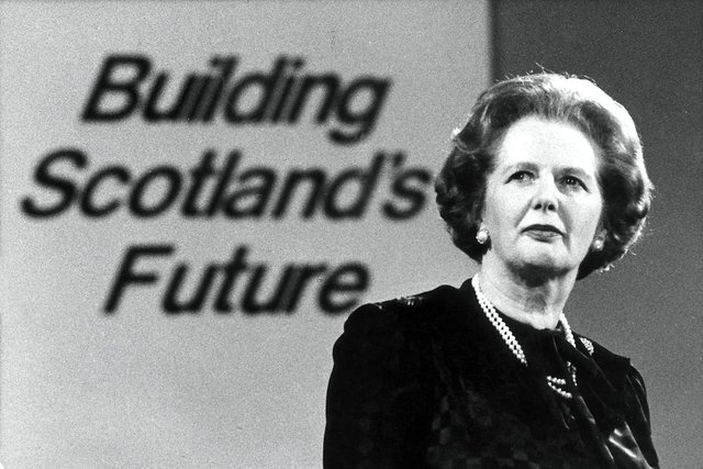 Margaret Thatcher at the Scottish Conservative Party conference in Perth in 1986 (Picture: Alan MacDonald)
