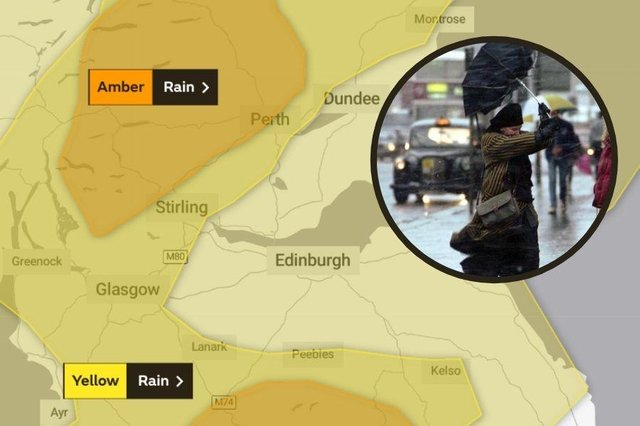 Gusts of of to 70 mph expected as Met Office issue a yellow warning for high winds.