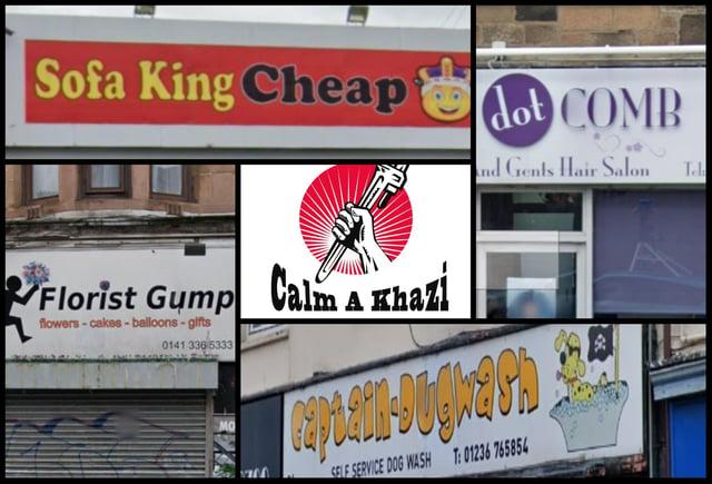 Scotland's punniest shop names.