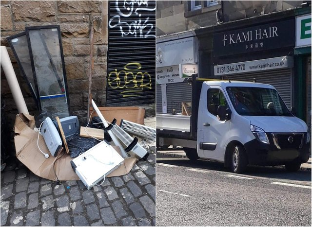 Commercial waste being dumped on Edinburgh street 'utterly unacceptable' says local councillor.