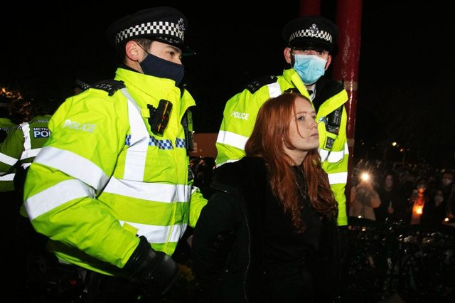 Patsy Stevenson was arrested by police at the vigil on March 13 (Getty Images)