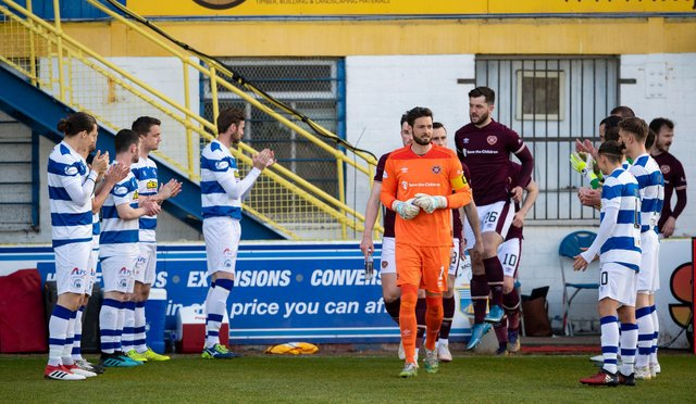 All the action from Cappielow in the Championship clash between Morton and Hearts. Picture: SNS