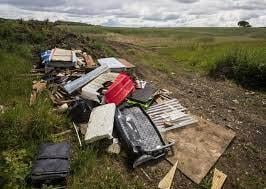 Dumped waste blights the countryside
