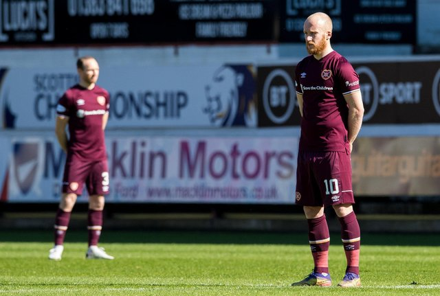 Hearts are set for a further wait to clinch a return to the Premiership. Picture: SNS