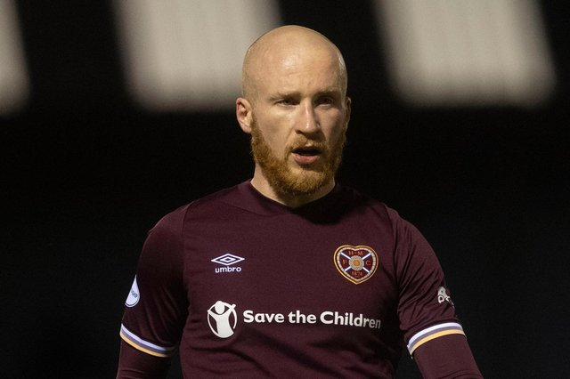 Hearts striker Liam Boyce was voted Championship Player of the Year.