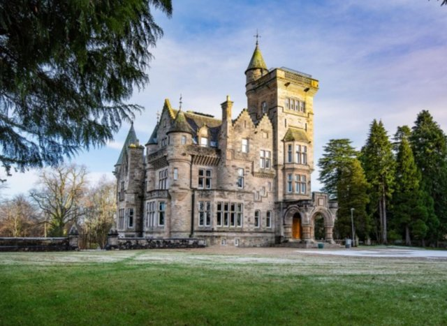 The Gothic Dollarbeg Castle is an imposing sight in the Clackmannanshire countryside.