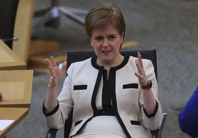 Six years ago, Nicola Sturgeon said: 'Let me be clear, I want to be judged on this [education]' (Picture: Fraser Bremner/Daily Mail/PA Wire)