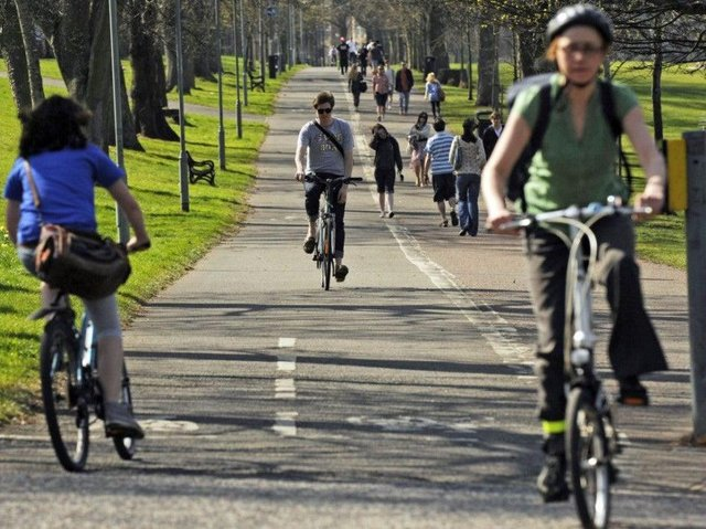 Cycling boom in Scotland as number of cyclists spike over Covid lockdowns picture: JPI Media