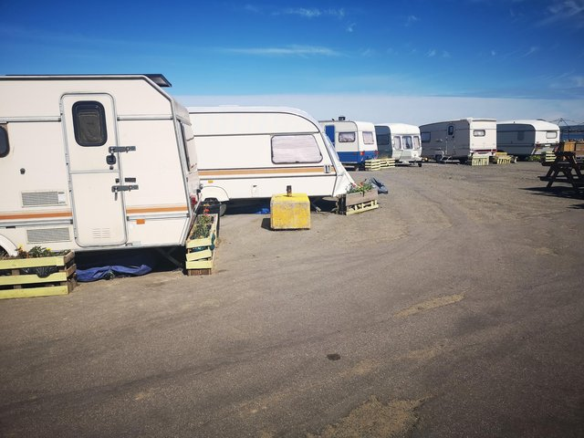 Only one caravan owner has signed up to leave by August