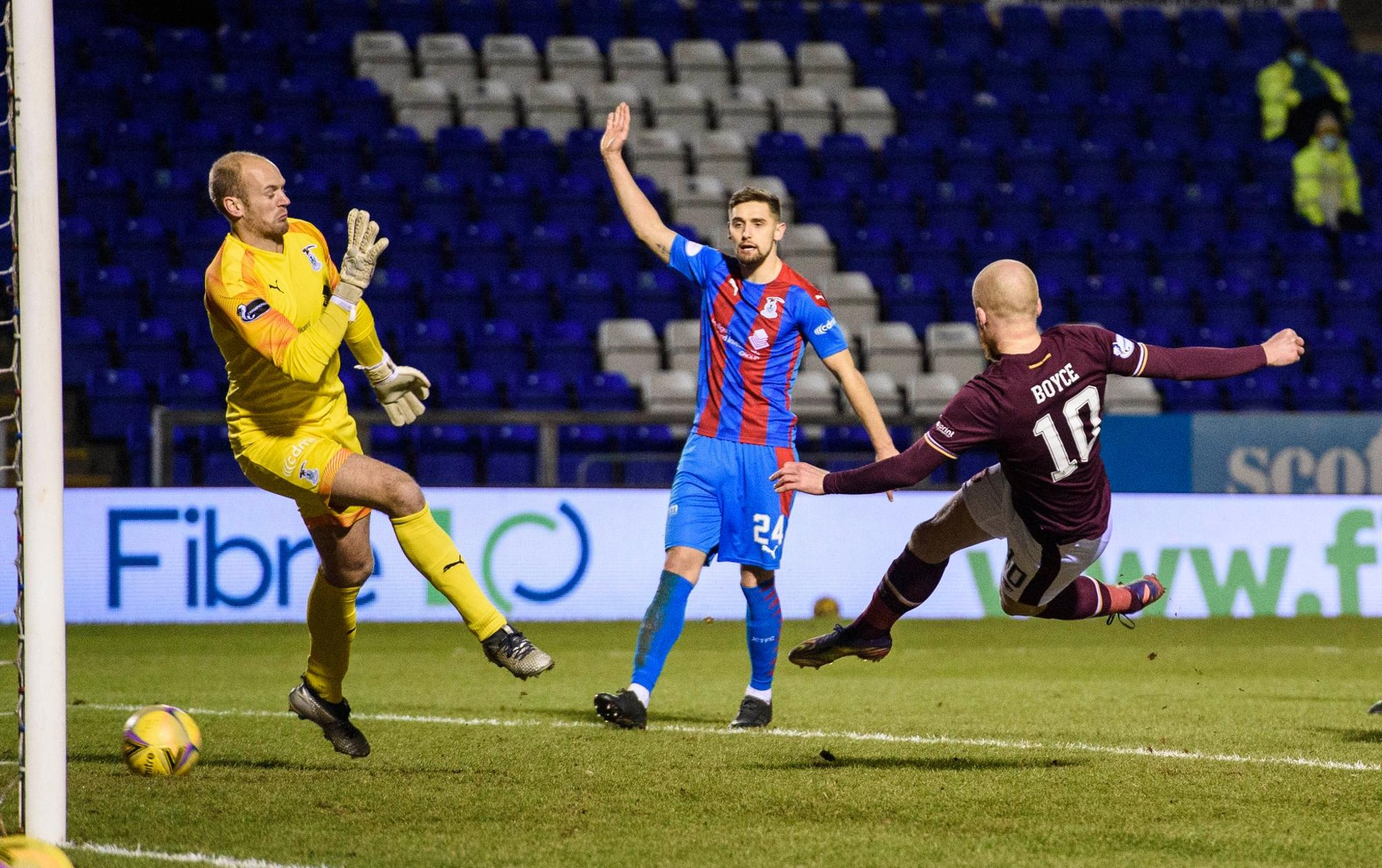 Inverness CT 1 - 1 Hearts LIVE: Boyce equalises for the league leaders