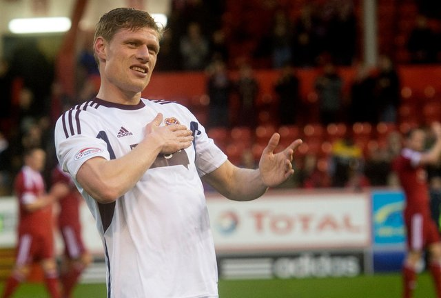 Former Hearts captain Marius Zaliukas died from MND last year.