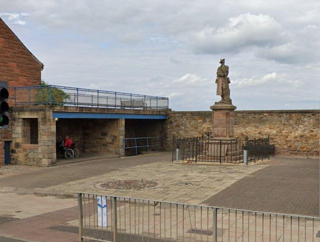 The war memorial as it currently looks
