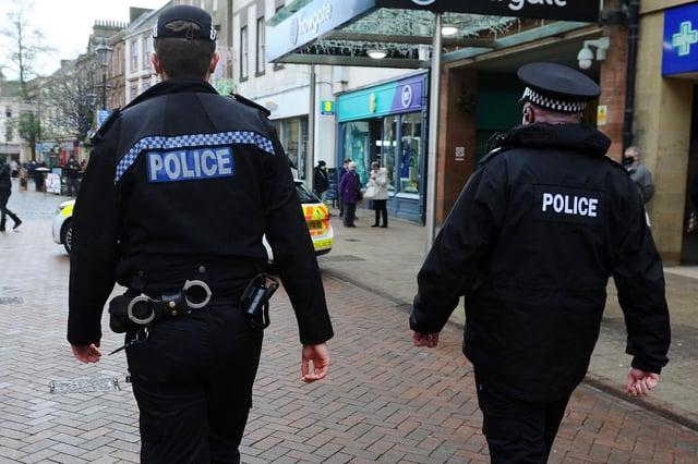 Police Scotland officers on patrol